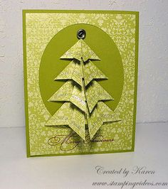 The Christmas crafting Collection. Find the 20 beautiful handmade Christmas cards 2018 you make at home. Beautiful handmade gifts and craft ideas in UK. Origami Christmas Tree Card, 3d Christmas, Christmas Cards To Make, Christmas Makes, Xmas Cards, All Things Christmas, Handmade Christmas, Holiday Cards, Christmas Ideas