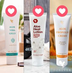 Aloe Vera Gelly, Aloe Heat Lotion or Aloe Propolis Crème. Which one is your favorite? Forever Living Company, Forever Living Business, Forever Living Aloe Vera, Forever Aloe, Aloe Heat Lotion, Forever Freedom, Sante Bio, Massage Lotion, Chocolate Slim