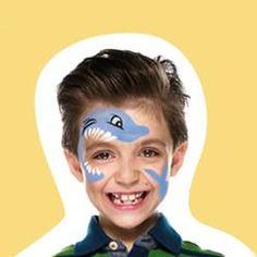 How to Face Paint - Snazaroo Shark Face Painting, Mime Face Paint, Face Painting For Boys, Face Painting Designs, Maquillage Grim Tout, Diy Maquillage, Halloween Kids, Halloween Makeup, Shark Makeup