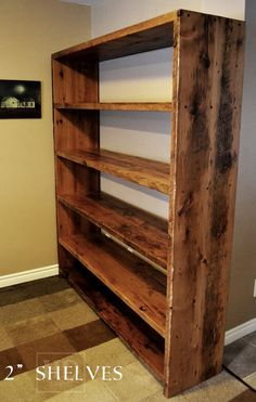 Cambridge, Ontario Reclaimed Wood Shelving by HD Threshing Floor Furniture  www.hdthreshing.com Email directly at rw@table.ca