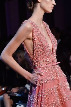 Elie Saab Couture Fall 2014  Strawberry Ice Pantone Color
