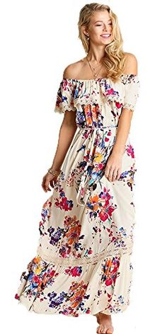 Umgee Floral Maxi Dress (Small) Umgee