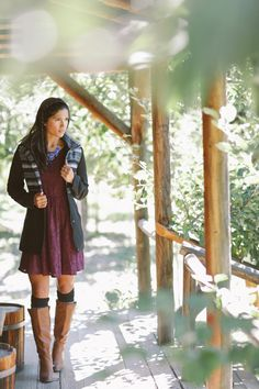 Tall boots and socks are such a cute and cozy pairing! #ruche #shopruche