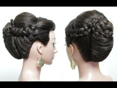 2 bridal hairstyles for long hair tutorial. Wedding updos - YouTube