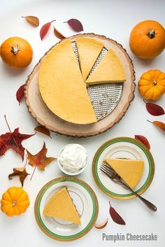 Creamy, easy to make Pumpkin Cheesecake with oat pecan crust (gluten-free) on antique Haviland plates BoulderLocavore.com