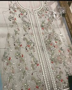 For contact 00923009681116 Tambour Embroidery, Bead Embroidery Patterns, Hand Work Embroidery, Couture Embroidery, Bead Embroidery Jewelry, Embroidery Dress, Embroidery Designs, Pakistani Maxi Dresses, Pakistani Wedding Outfits