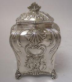 Victorian Antique Silver tea caddy