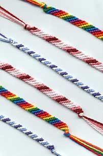 Friendship Bracelets using cross stitch thread..super easy!!