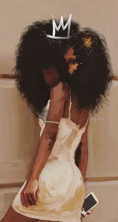 49 new ideas black art women queens life Black Girl Cartoon, Black Girl Art, Black Girl Magic, Black Girls Rock, Black Art Painting, Black Artwork, Natural Hair Art, Natural Hair Styles, Mode Poster