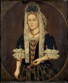 Woman of the Stuyvesant Family, 17th Century, oil on canvas, by an unidentified artist.  Gift of the Estate of Augustus Van Horne Stuyvesant, Jr.  NYHS Object Number 1957.46.