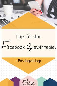 Tipps für dein Facebook Gewinnspiel + Postingvorlage | Hacks und Tipps für Dein Facebook Marketing #facebookmarketing