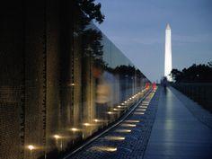 The Vietnam Memorial And Washington Monument Washington Dc  1600x1200 HD Wallpaper