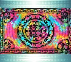 Mesmerizing medallion tapestry crafted in soft woven cotton. Instantly adds a unique touch of boho charm to any living space or dorm room. Doubles as a beach or picnic blanket and is festival-friendly Tapestry Bedroom, Tapestry Wall Hanging, Bohemian Tapestry, Boho, Hippie Tapestries, Mandala Tapestry, Hamsa, Elephant Tapestry, Elephant Room