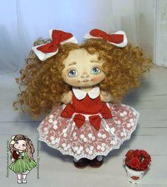 Купить Ланочка. Текстильная кукла.Авторская кукла.Коллекционная кукла в интернет магазине на Ярмарке Мастеров