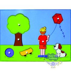 Quebra Cabeça Grande Menino de Pipa, Quebra Cabeça de Pinos de Madeira, Quebra Cabeça Pipoquinha, Brinquedos Pipoquinha, brinquedos educativos, brinquedos