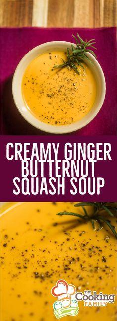 Butternut Squash Ginger Soup, Butter Squash Soup, Squash Pie, Best Chilli Recipe, Ginger Soup Recipe, Paleo Dessert, Beef Recipes, Soup Recipes, Healthy Recipes