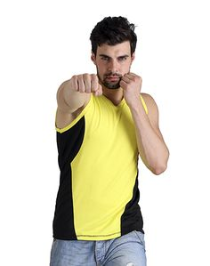 Men's Yellow Black Sando – Atheno India