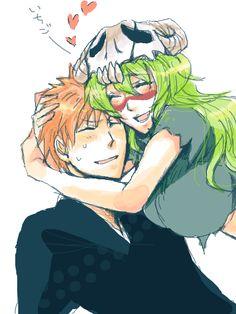 neliel ... Too cute, poor Ichigo he's all redfaced.