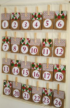 Do you want a simple way to help your family mark the days until Christmas arrives? Spend an afternoon building this Charming Paper Bag Advent Calendar. Easy Christmas Crafts, Simple Christmas, Handmade Christmas, Christmas Decorations, Christmas Tables, Modern Christmas, Christmas Calendar, Christmas Countdown, Christmas Holidays