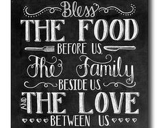 bless the food before us sign free printable - Google Search