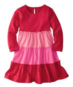 A keyhole closure in back helps this supersoft cotton dress slip-on with ease, and its twirlable silhouette brings some swing to playtime.Oeko-Tex certified100% cottonMachine wash; tumble dryImported