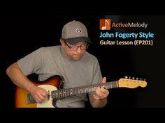 In this John Fogerty style guitar lesson, you'll learn several classic Fogerty / CCR style lead guitar licks that you can apply to your own playing. Blues Guitar Lessons, Guitar Tips, Guitar Songs, Guitar Chords, Music Songs, Acoustic Guitars, Playing Guitar, Learning Guitar, Beginner Electric Guitar
