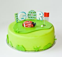 Golf cake Golf, Cake, Desserts, Tailgate Desserts, Deserts, Kuchen, Postres, Dessert, Torte