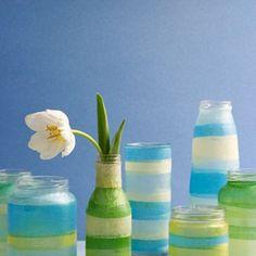 Tissue Paper Craft Vase