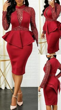 Short African Dresses, Latest African Fashion Dresses, Women's Fashion Dresses, Outfits Dress, Classy Work Outfits, Classy Dress, Elegant Dresses For Women, Pretty Dresses, Sexy Dresses