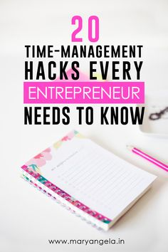 20 Time Management Hacks Every Entrepreneur Needs To Know! Read now or pin to save for later!