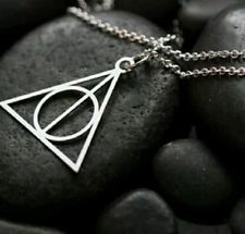 Deathly Hallows necklace,Harry Potter gifts,Graduation gifts,silver illuminati  £10.00
