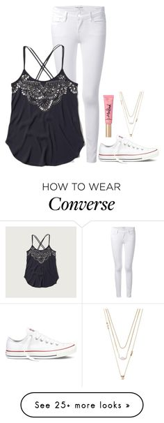 """idk im bored"" by ameliahinton on Polyvore featuring Frame Denim, Abercrombie & Fitch, Converse, Forever 21, women's clothing, women, female, woman, misses and juniors"