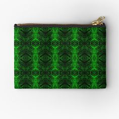 'Chic Abstract Emerald Green Pattern' Zipper Pouch by HavenDesign Green Pattern, Iphone Wallet, Sell Your Art, Gifts For Family, Zipper Pouch, Emerald Green, Pouches, Zip Around Wallet, Original Art