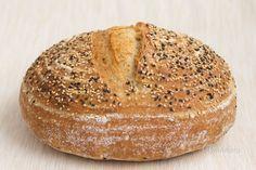 Kváskový chlieb pre začiatočníkov - My site Pizza Dough, Baked Potato, Bread Recipes, Bakery, Food And Drink, Meals, Snacks, Cooking, Tatoo
