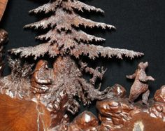 Ooak Tree Wood Carving a great Art Wood Sculpture Gift for your Wife or your Husband by Gary Burns the treewiz