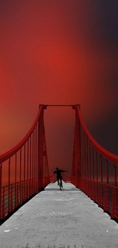 Red represents passion. With the passion for each other , Marco and Ceila were able to cross the bridge from the physical world