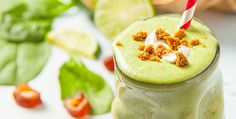 A Key Lime Pie Smoothie recipe that will remind your of hot days of summer and fresh pie baked at home. A dessert smoothie to get zesty over!