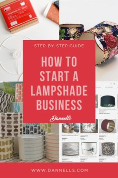Have you been thinking of taking your Lampshade Making to the next level and start selling your shades? We have huge practical experience so we have packed this page with a step-by-step guide on how you can set up your business and sell online from the comfort of your home. You can also give us a call for a friendly chat or email us at info@dannells.com #lampshademaking