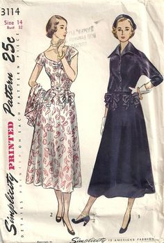 Misses 40s Dress Jacket Sewing Pattern Simplicity by patternmania, $24.95