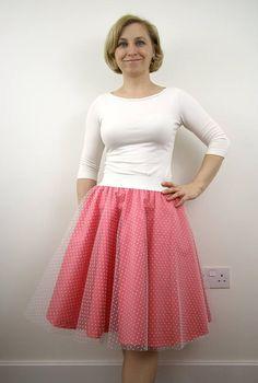 Blush tulle circle skirt, summer skirt, party skirt, bridesmaid skirt, event outfit, knee length skirt, women skirt, elastic waist skirt