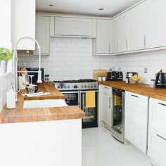 U shaped kitchen with centrepiece range cooker | U shaped kitchens | housetohome.co.uk