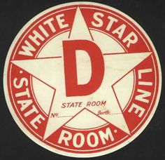 White Star Line Luggage Sticker