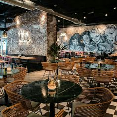 brick walls with artwork in this classic space design 🍾 Sport Bar Design, Pub Design, Bar Interior Design, Coffee Shop Design, Lounge Design, Restaurant Interior Design, Restaurant Furniture, Casa Pop, Pub Decor