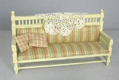 a shabby country sofa