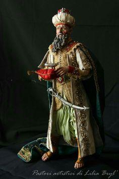 Rey Mago de Oriente Gaspar, quien representa a la cultura asiática de la Edad Media.