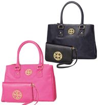 "Sabrina Collection Bag & Wristlet Set - ""Anytime, Anywhere, Always, Ask."" - This premium leatherlike, fully-lined bag and wristlet set features Avon's 4A Representative motto. Use as a conversation starter to introduce others to the Avon Opportunity! Now buy each Signature Collection set for $45.00 online at http://eseagren.avonrepresentative.com"