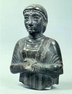 Sumerian woman at the time of Gudea (circa 2130 B.C.), possibly a member of his family. Her hands are in the prayer position.