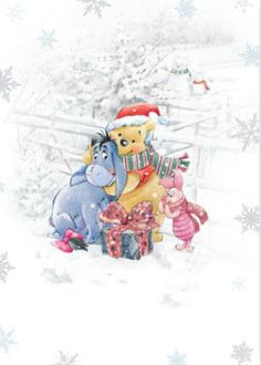 Weihnachten - Disney - Winnie-the-Pooh & Friends - Carcamy Winne The Pooh, Cute Winnie The Pooh, Winnie The Pooh Quotes, Vintage Winnie The Pooh, Winnie The Pooh Christmas, Disney Christmas, Christmas Art, Eeyore Pictures, Mickey Mouse And Friends