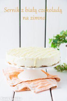 Sernik z biala czekolada na zimno Vanilla Cake, Food, Essen, Meals, Yemek, Eten