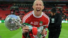 Andy Morrell with the FA Trophy